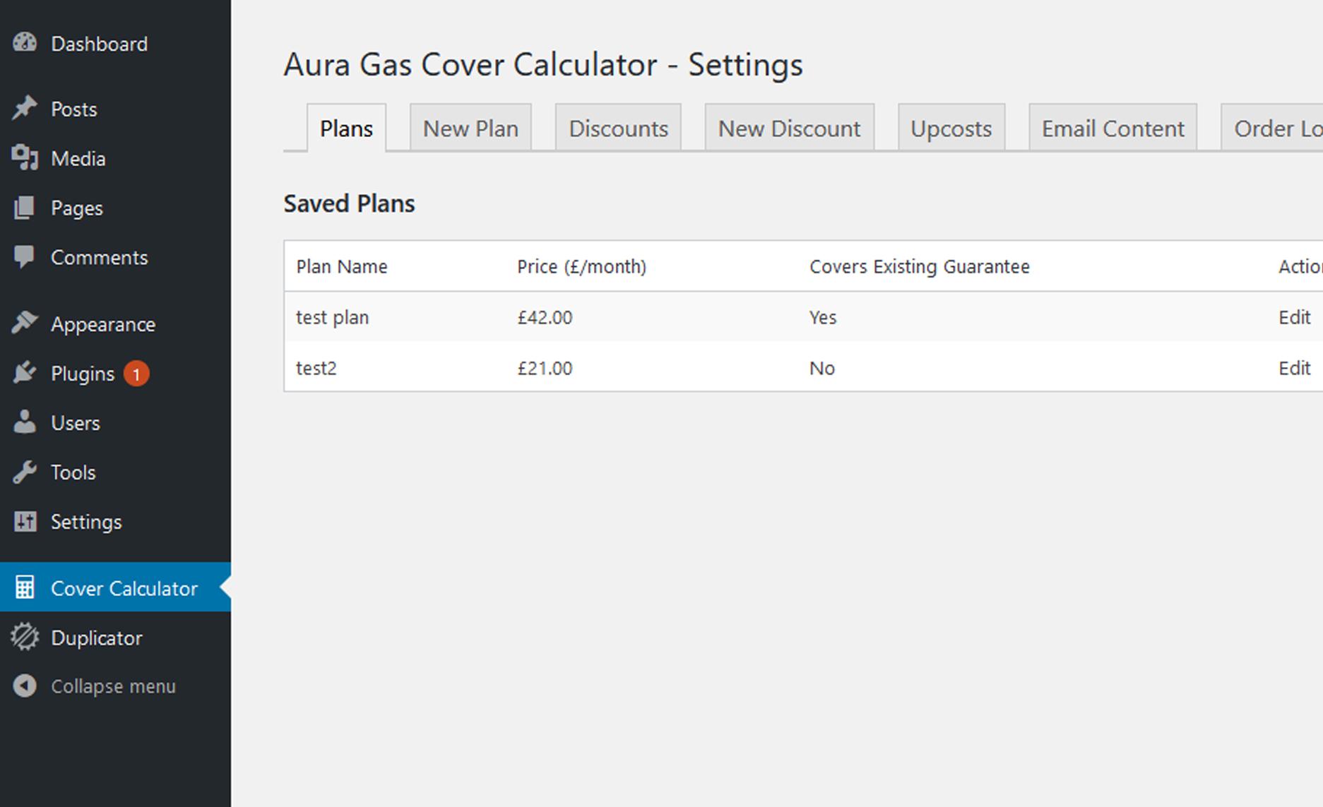 Aura gas Cover Calculator