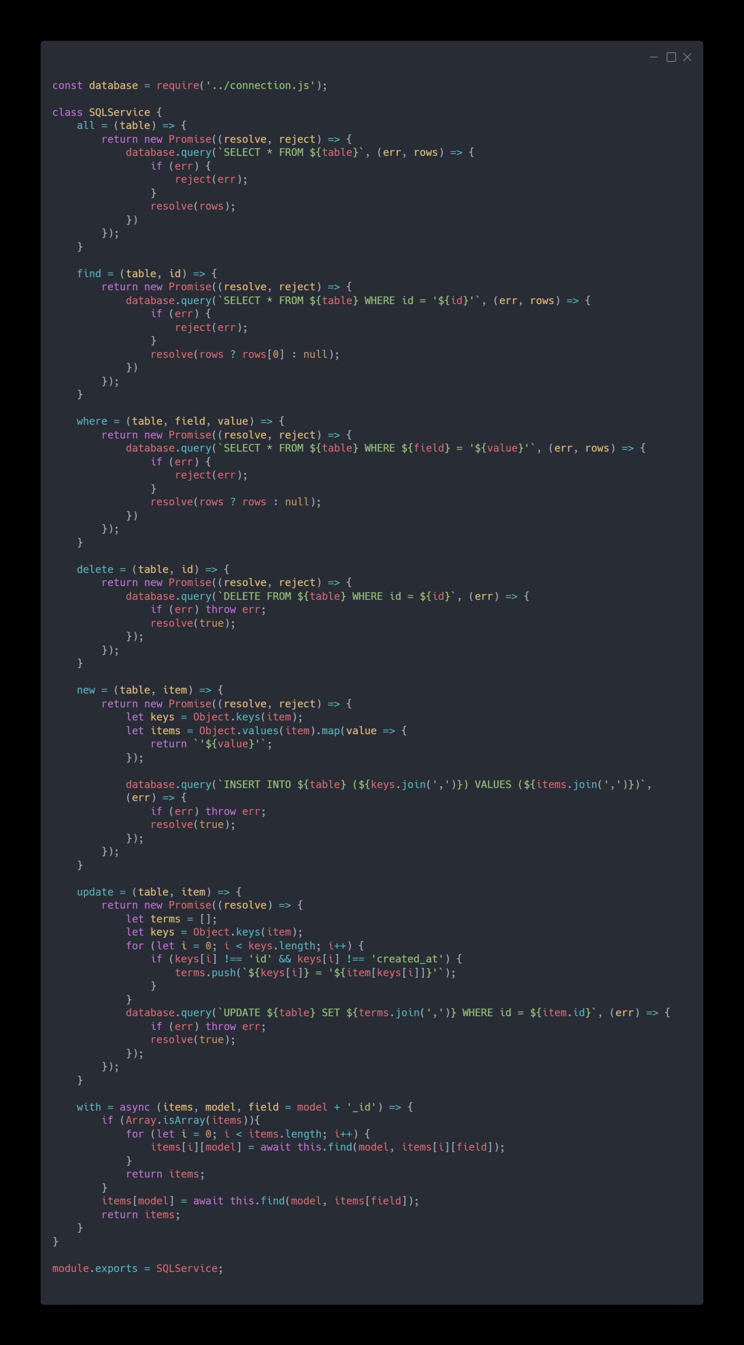 Working with MySQL in Node