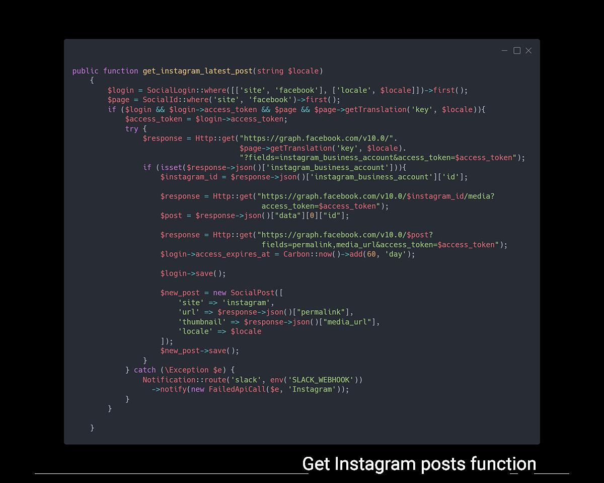 Instagram post getter