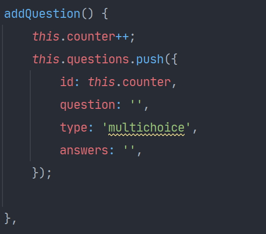Creating a question