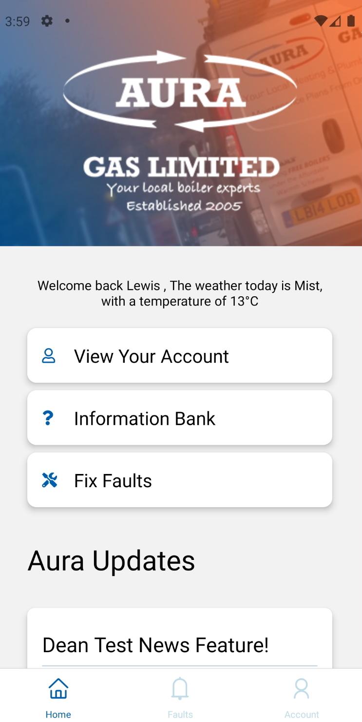 Aura gas App